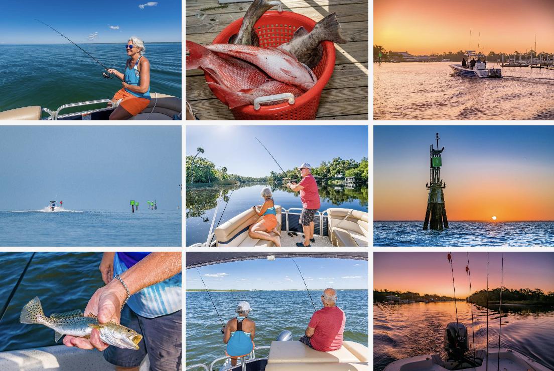 Steinhatchee River Club-Fishing collage