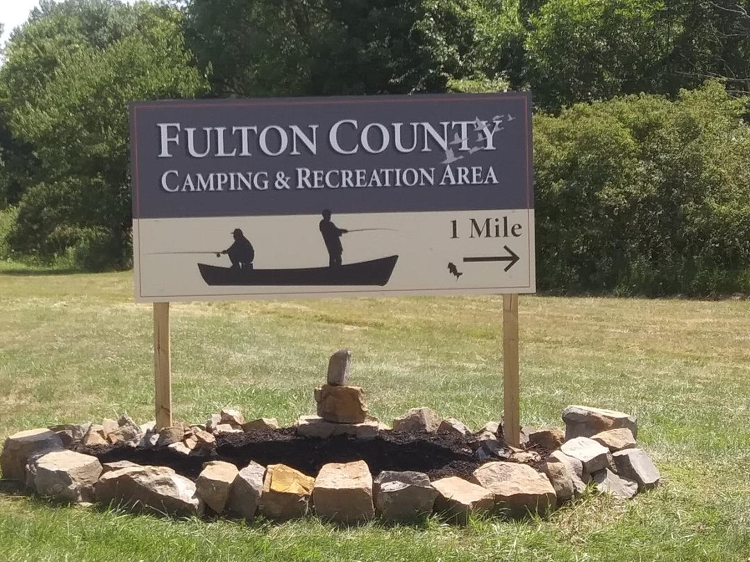Our Sign at Route 100 & Conservation Road.