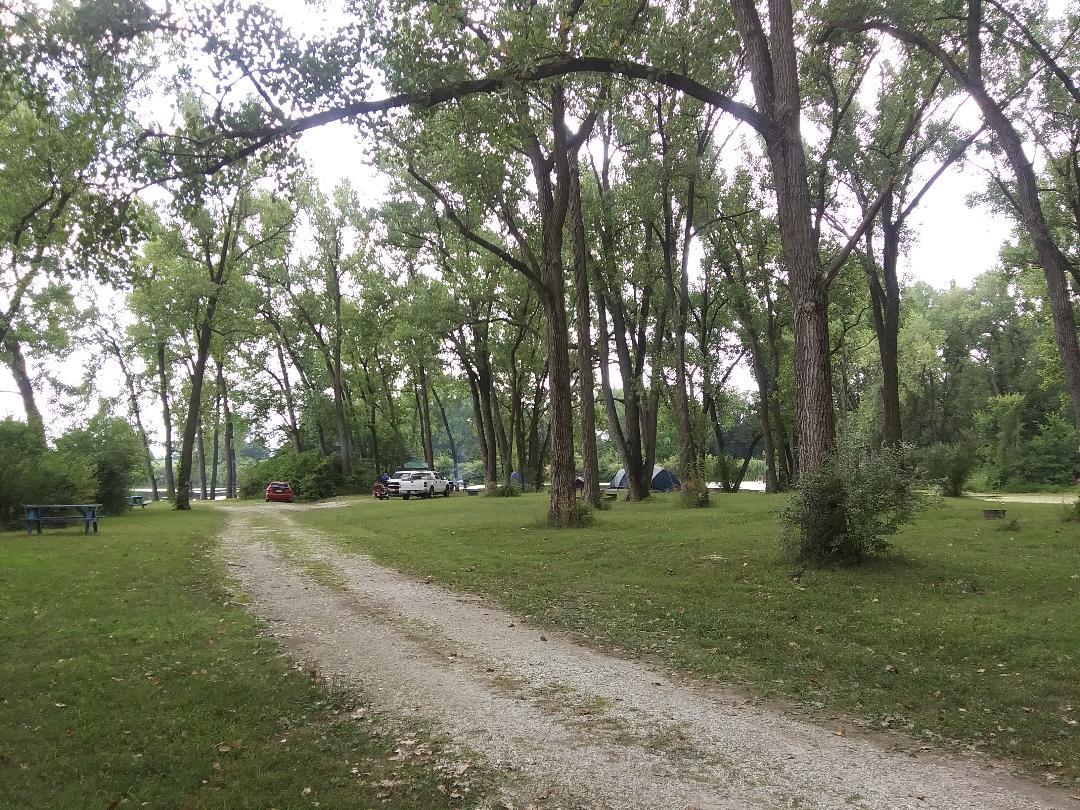 Primitive Camping near Pavilion