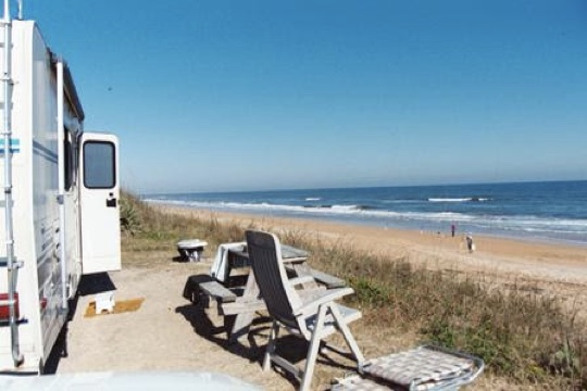 RV sites just steps from the ocean
