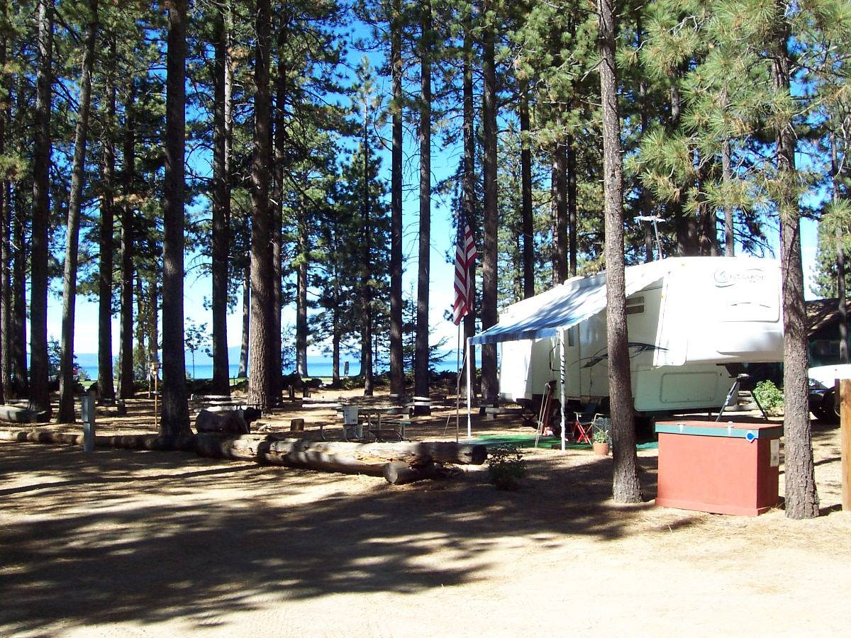 Campground by the Lake
