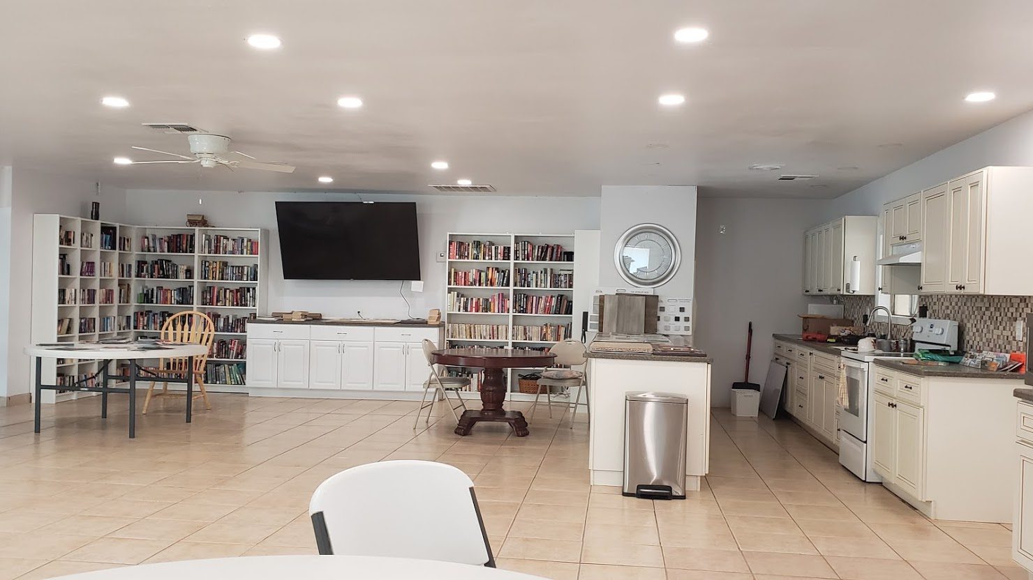 Leisure Valley-kitchen and library-game room