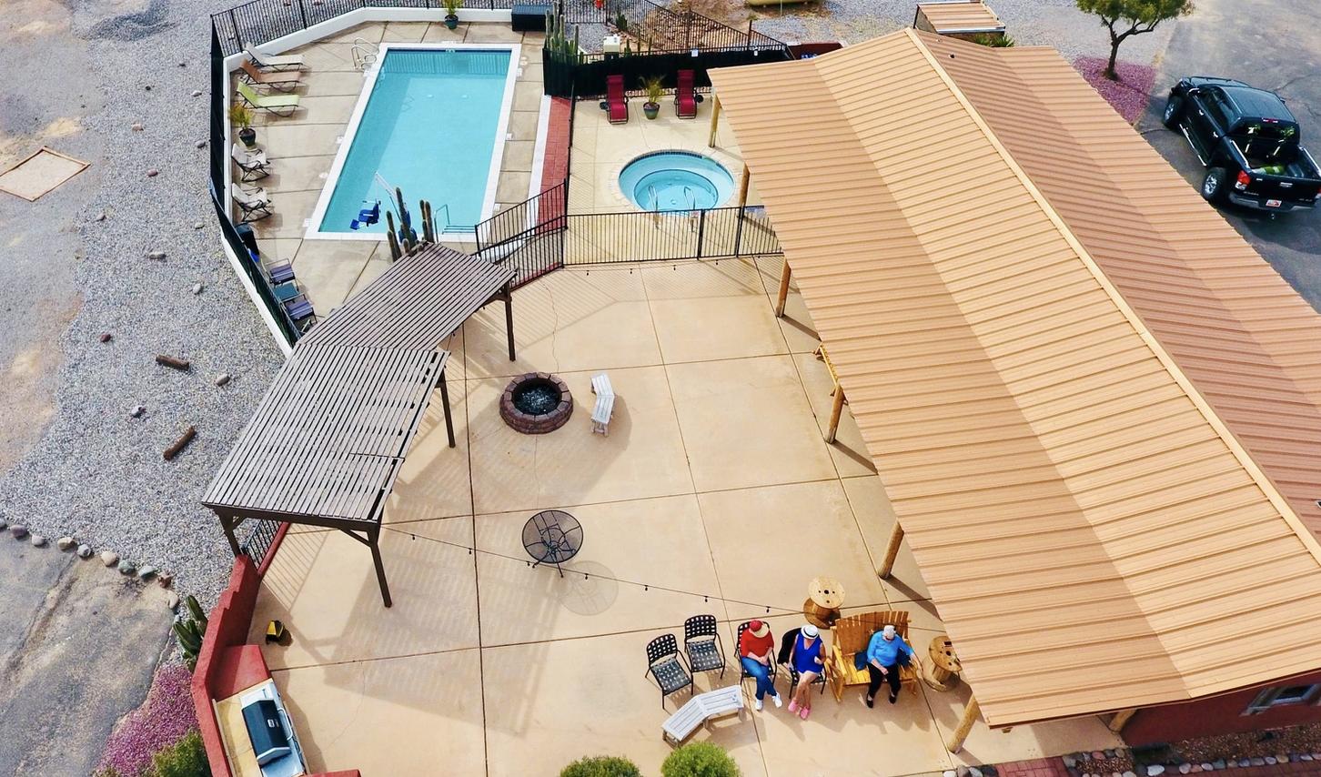 Desert Springs-pool and pavillion