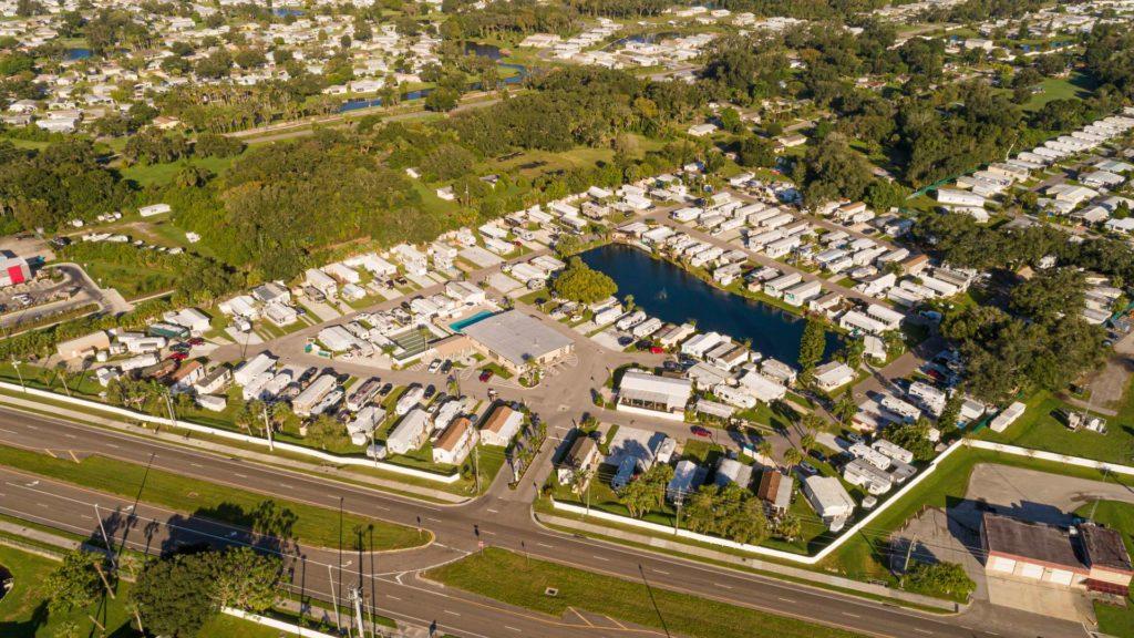 Ellenton Gardens-Aerial view