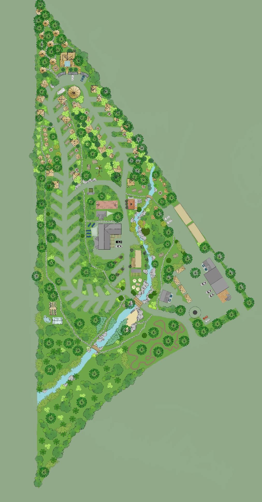 Glacier Nalu Campground - Map