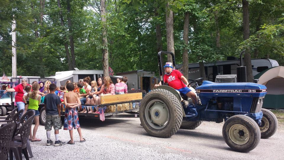 Hayrides for the kids every Saturday night at 7
