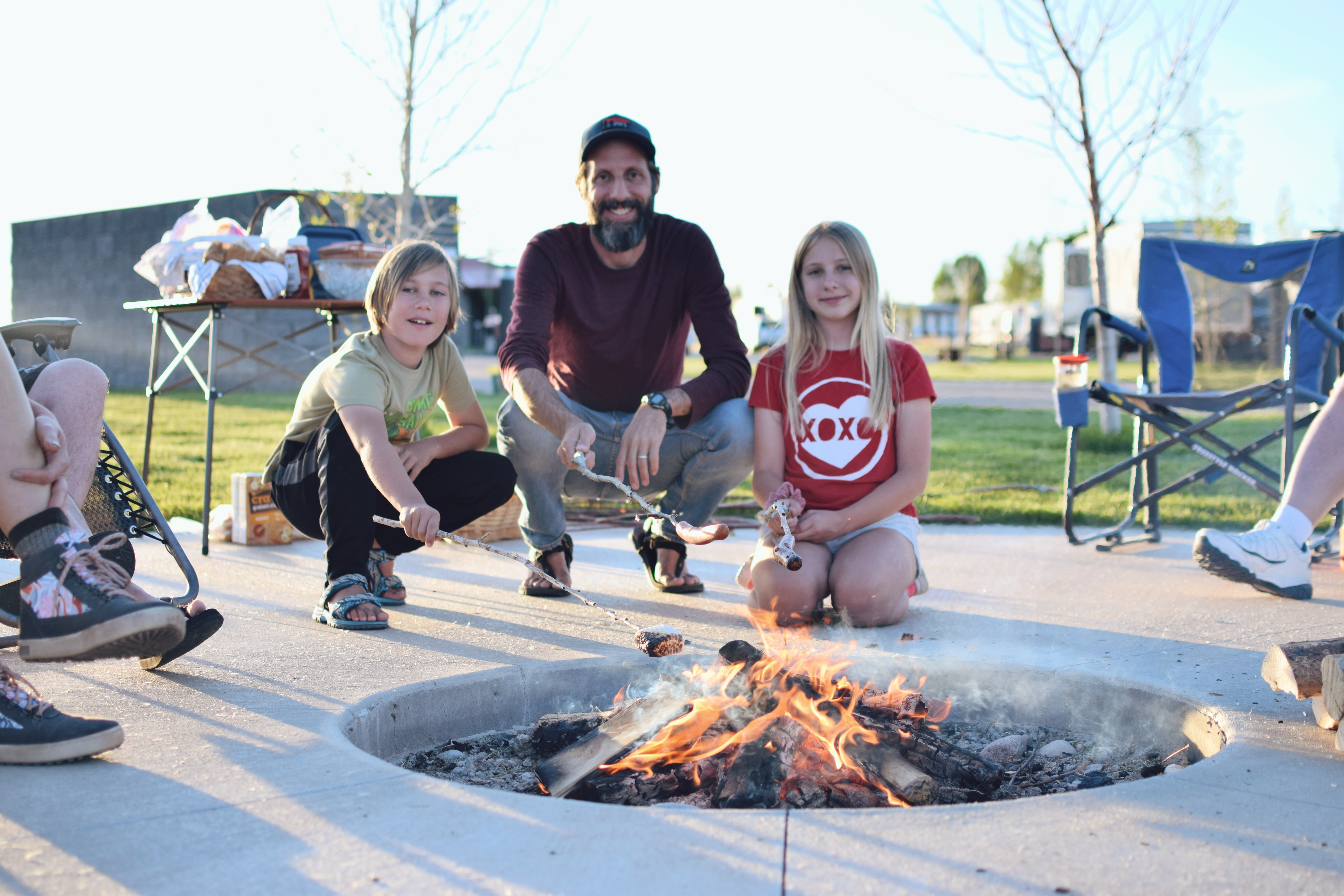 Family fun at the community campfire!