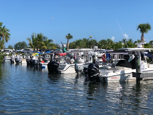 Marina complete with boat slips, bait and supplies, fuel and fish cleaning stations