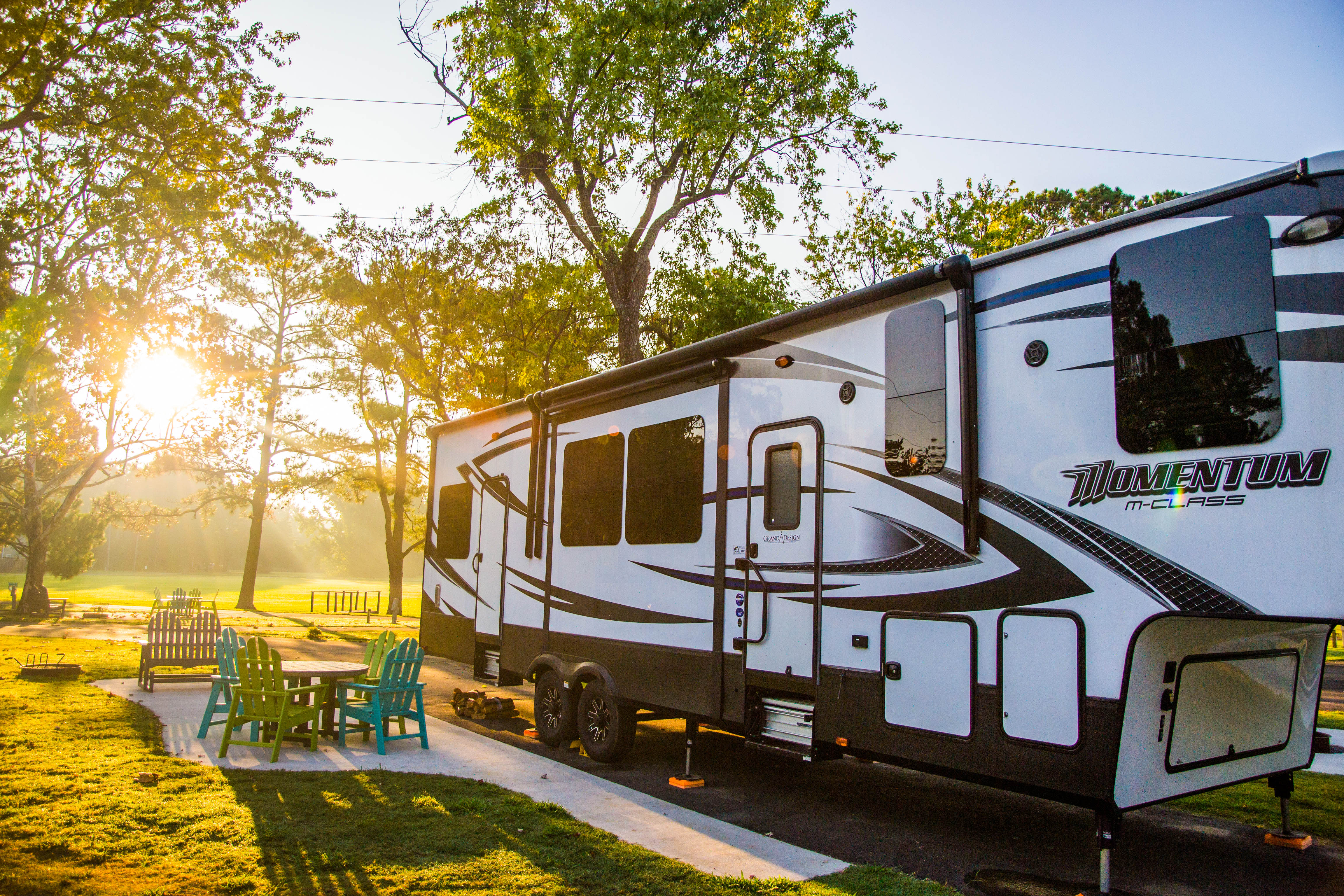 A variety of RV sites