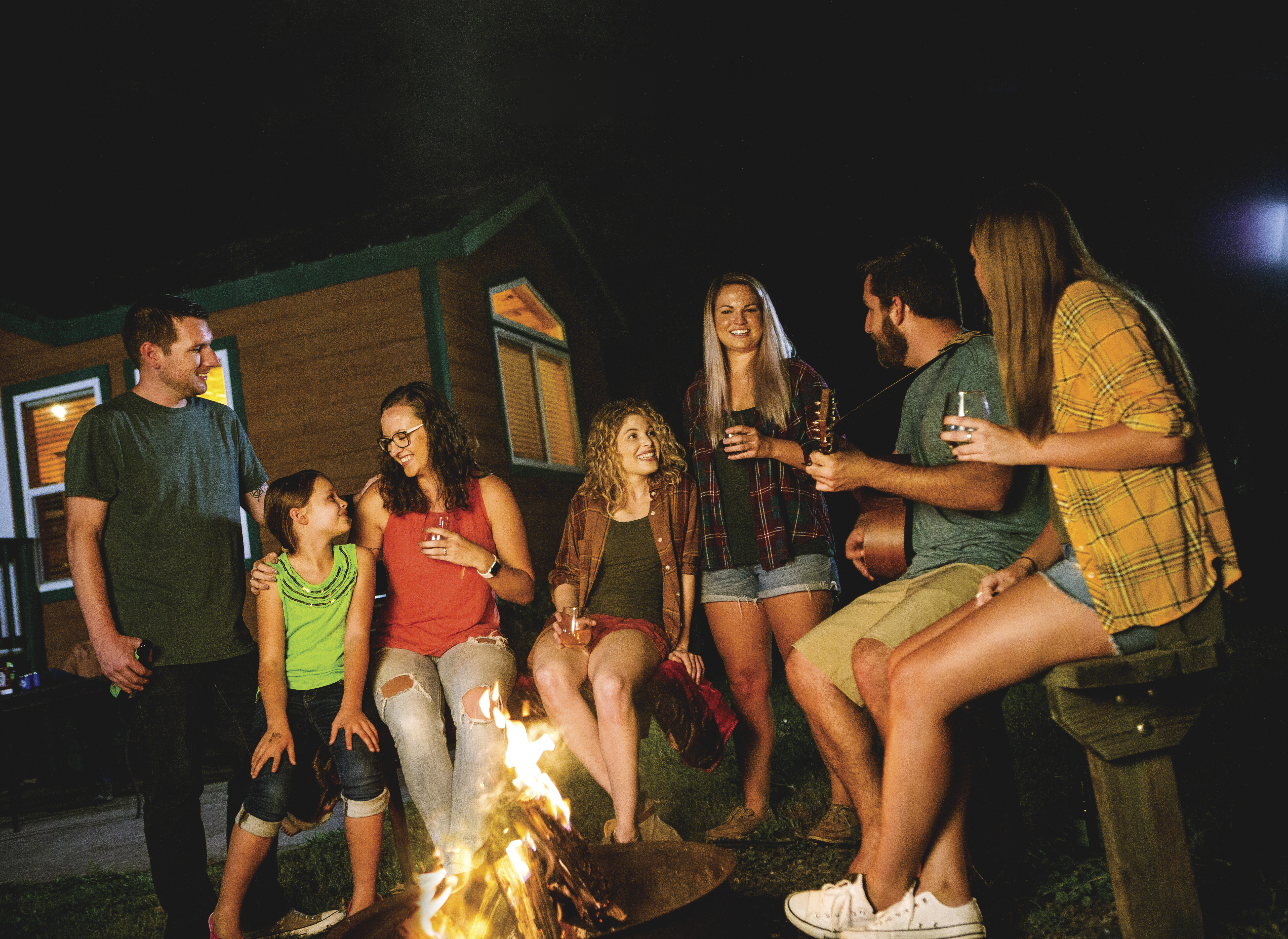 Spend time with friends and family around the campfire
