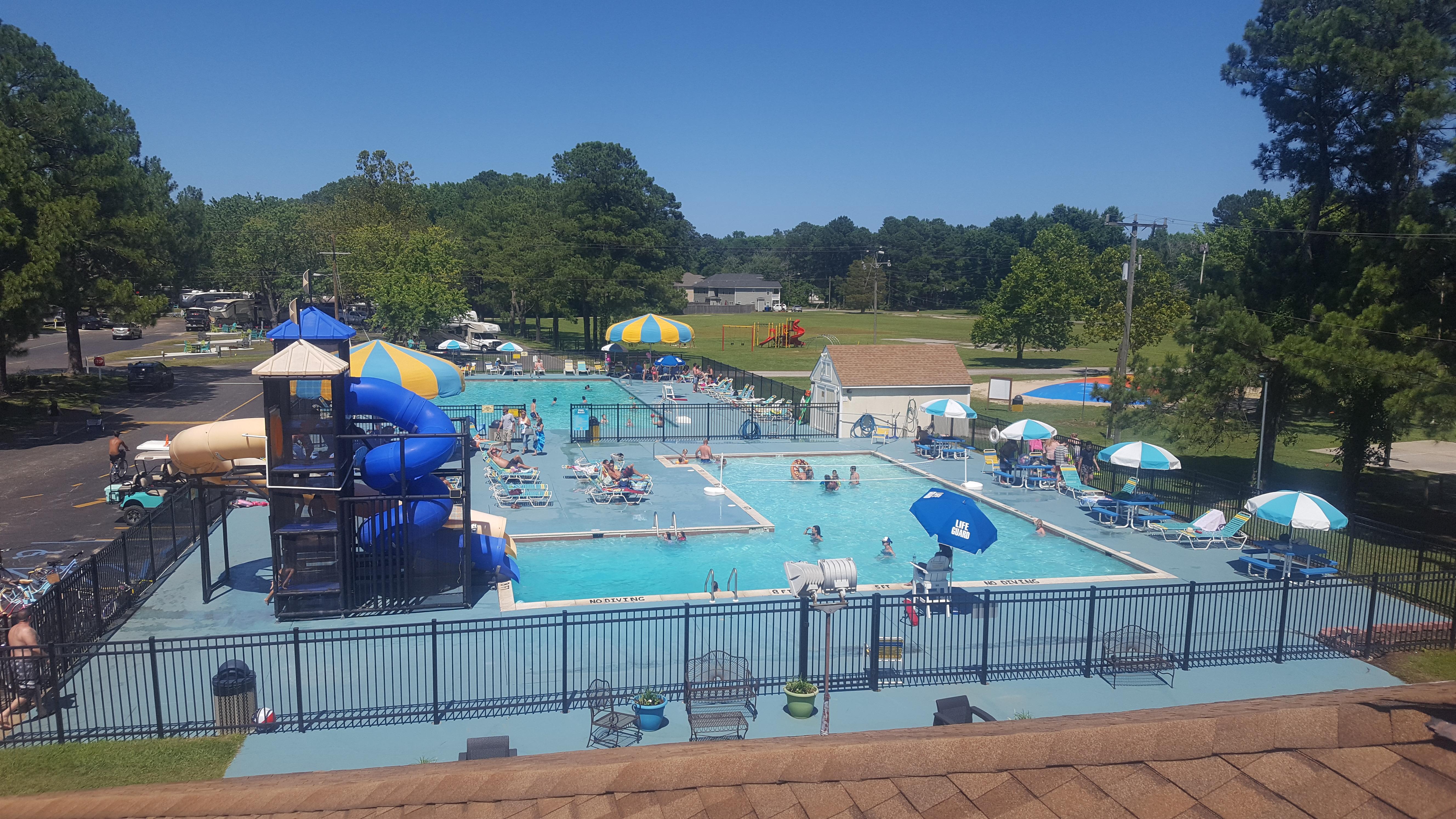 2 pools plus a water slide