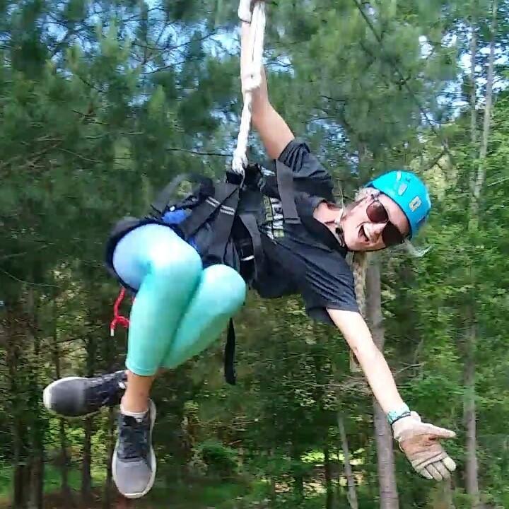 Visit the zipline and fly through the Virginia Beach wetlands
