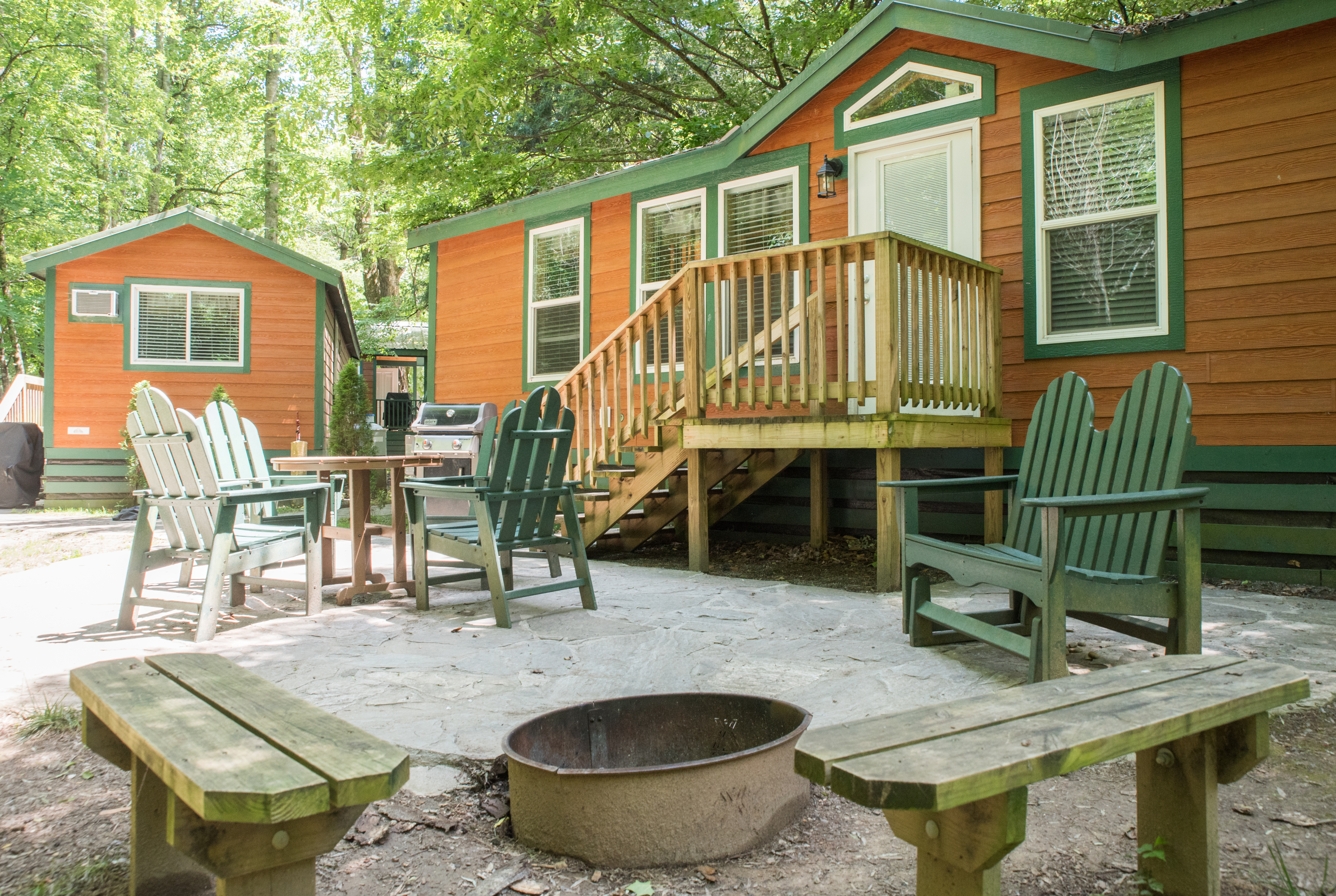 Deluxe Cabins with linens, and kitchenette