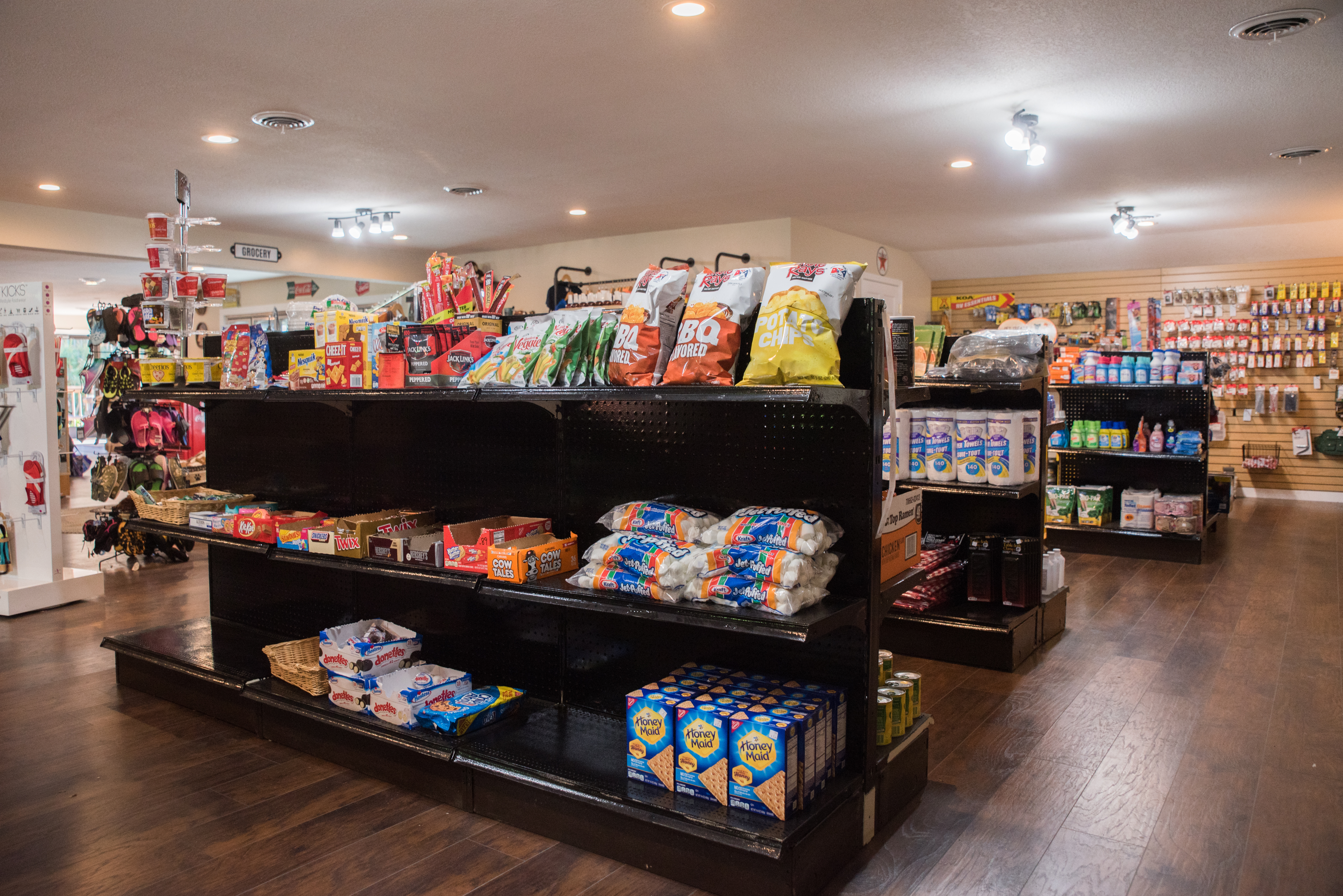 Fully stocked camp store