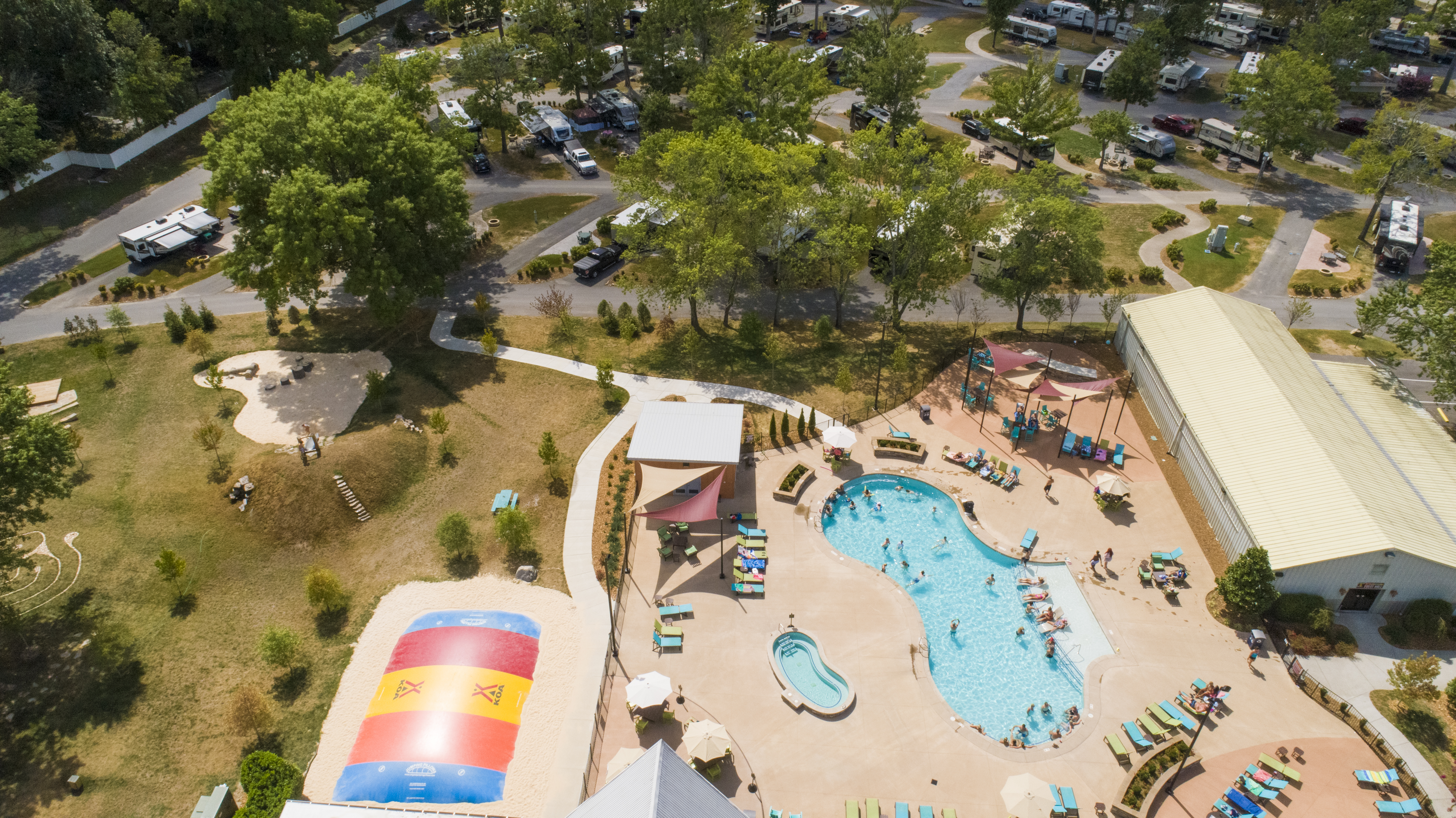 Our beautiful pool and campground