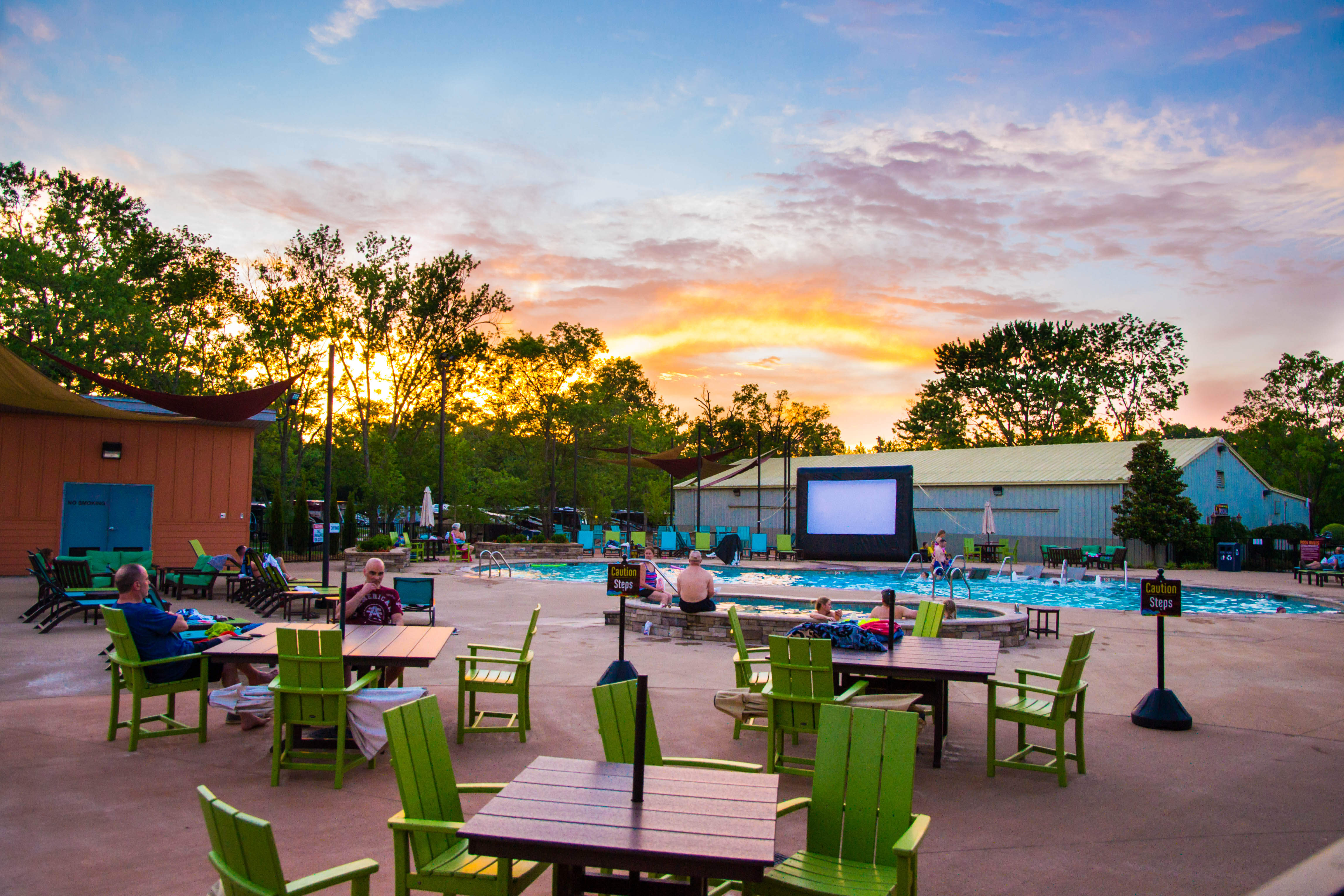 Poolside movies