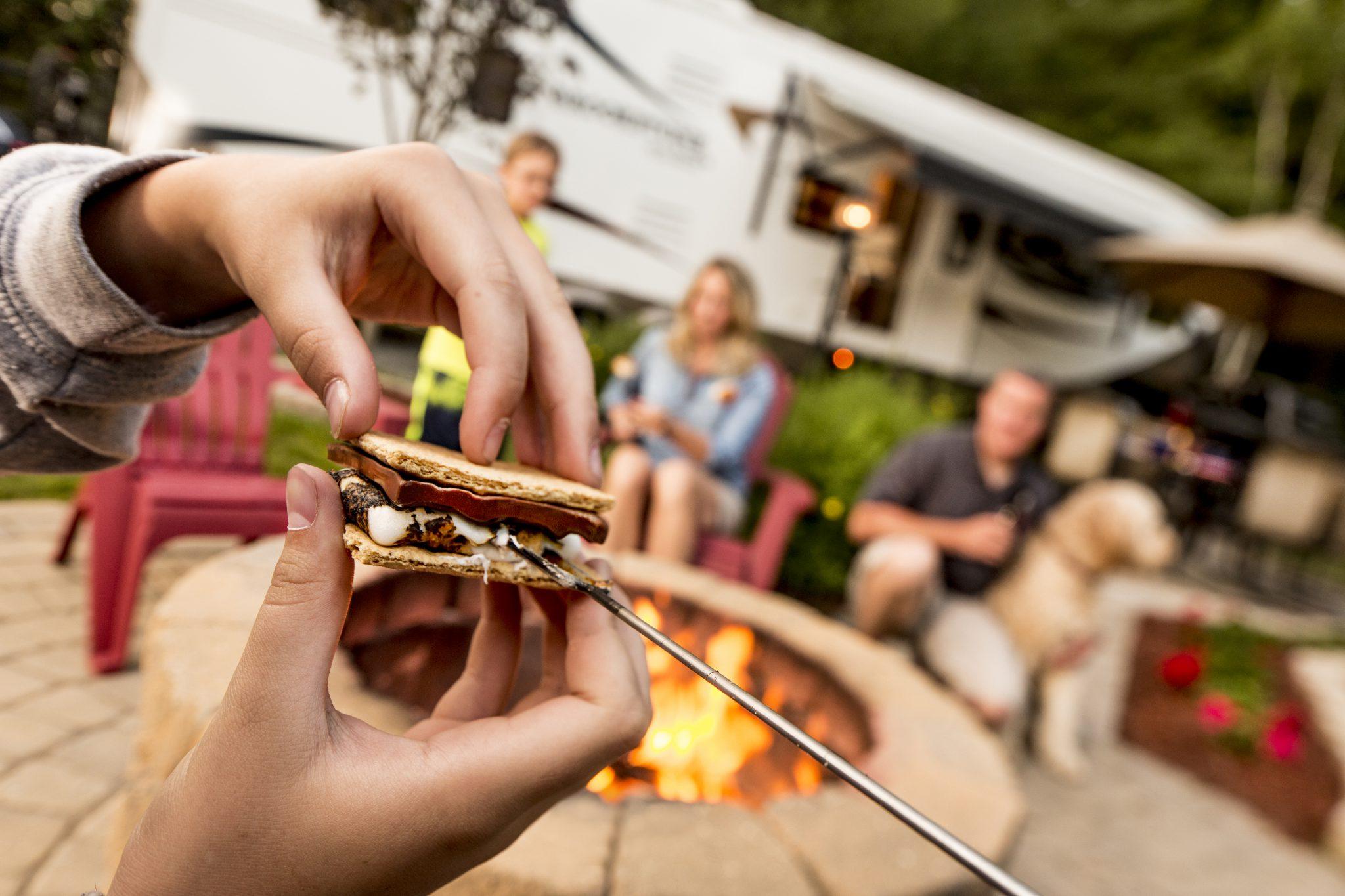 Campfires mean Smore's